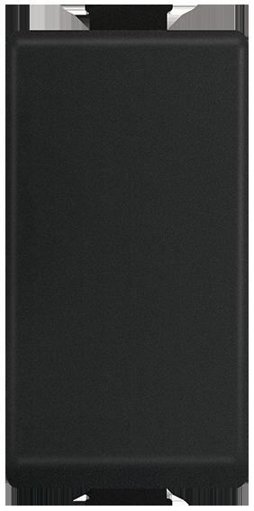 Pulsador NA 10A, 127-277V~, 1 mód. Negro Mate