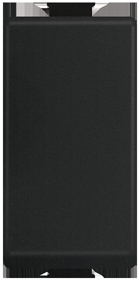 Interruptor Sencillo 16AX, 127-277V~, 1 mód. Negro Mate