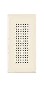 Zumbador 1 mód. 127 V~ 77dB, color marfil.