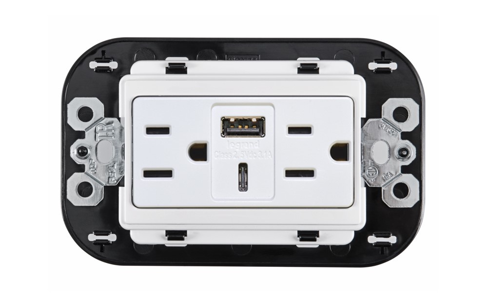 Tomacorriente Dúplex con USB