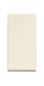 Interruptor sencillo 1 módulo color marfil.