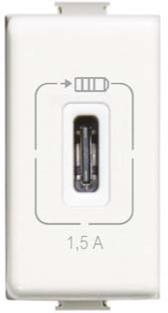 Cargador USB Tipo C 1.5 A, 1 módulo