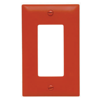 Placa de nylon apertura 26 color naranja