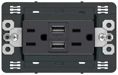 Tomacorriente Duplex con USB