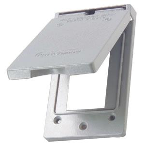 Tapa vertical duplex  para intemperie gris apertura 26