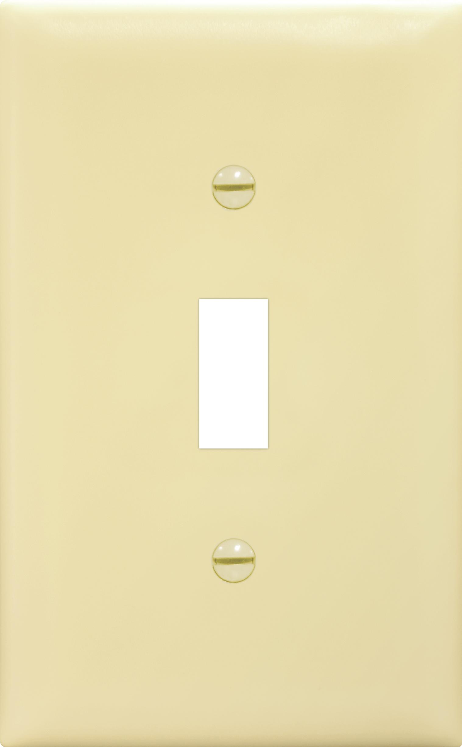 Placa de nylon para interruptor color marfil