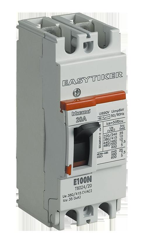 Interruptor termomagnético E100H