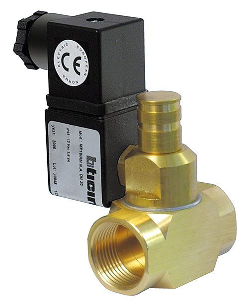 Electroválvula para cierre de gas