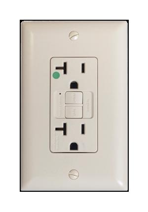 Toma dúplex ICFT (Interruptor de circuito por falla a tierra)