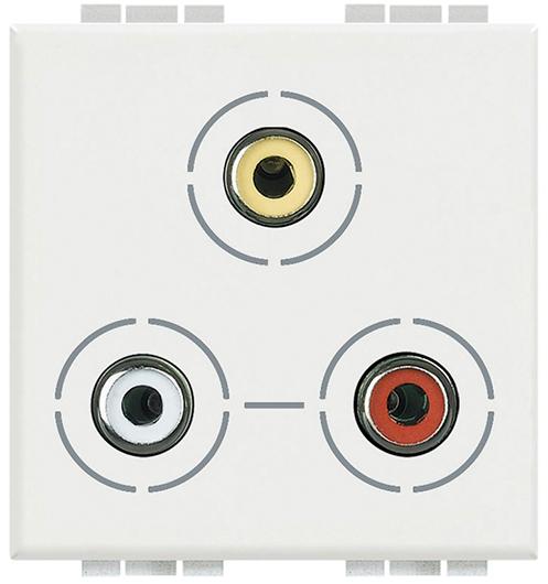 Conector RCA triple