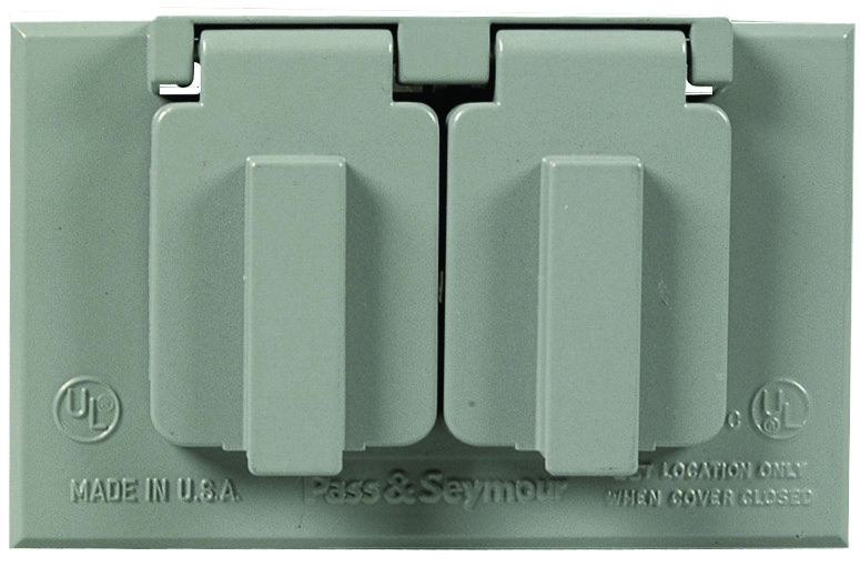 Tapa horizontal duplex para intemperie gris