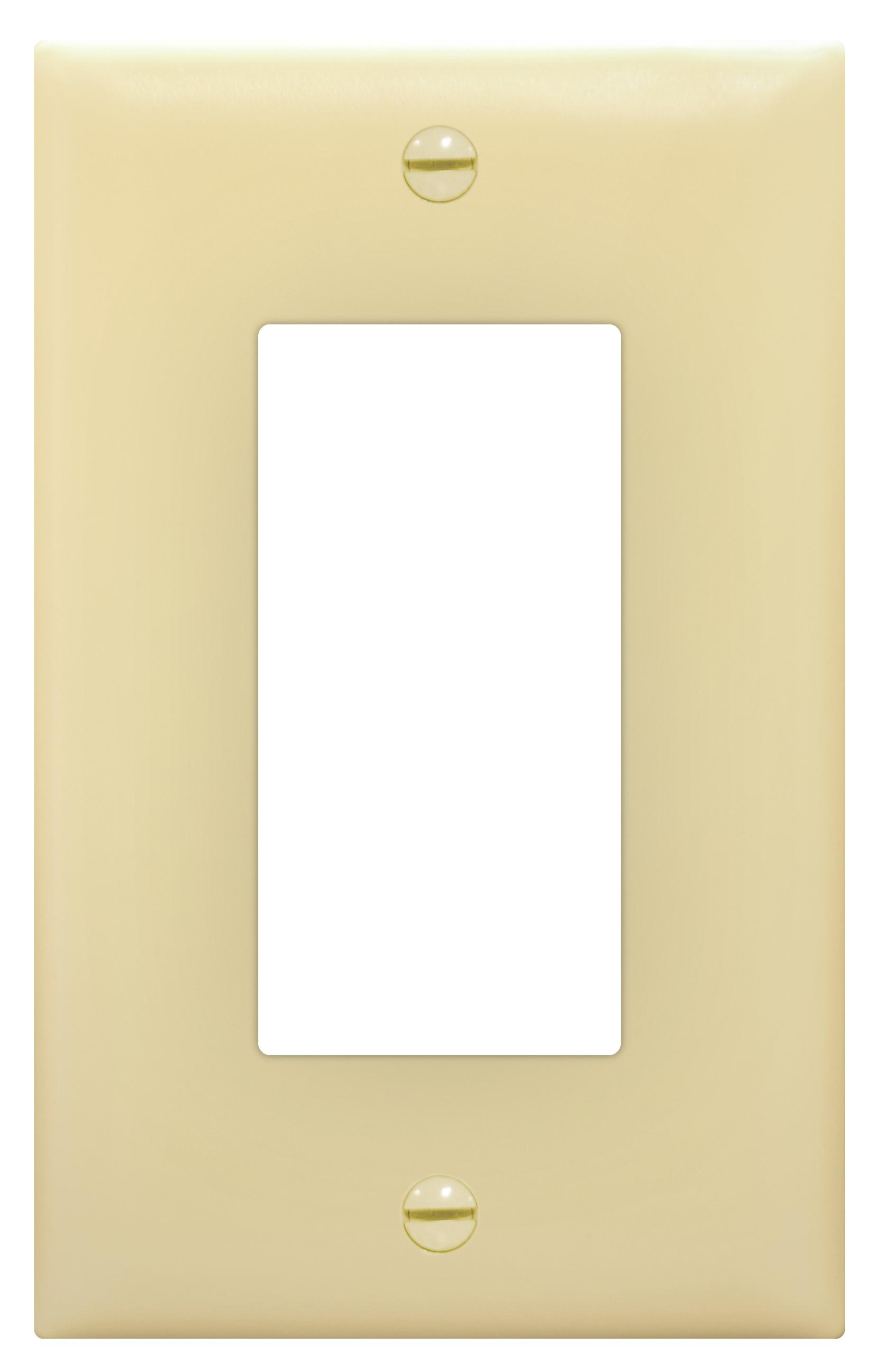Placa de nylon para apertura 26 color marfil
