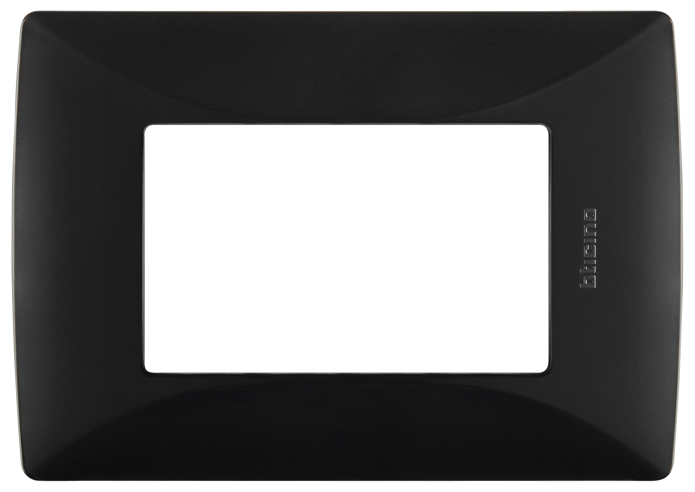 Placa de resina con chasis color Negro Mate 3 mód.