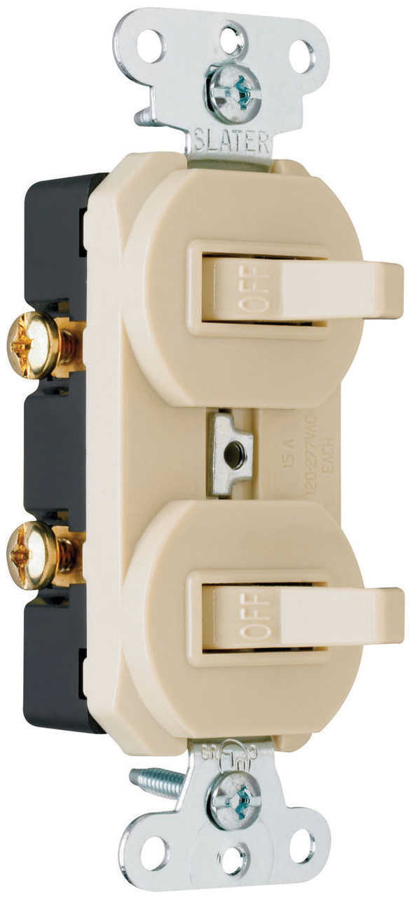 2 interruptores sencillos aterrizados